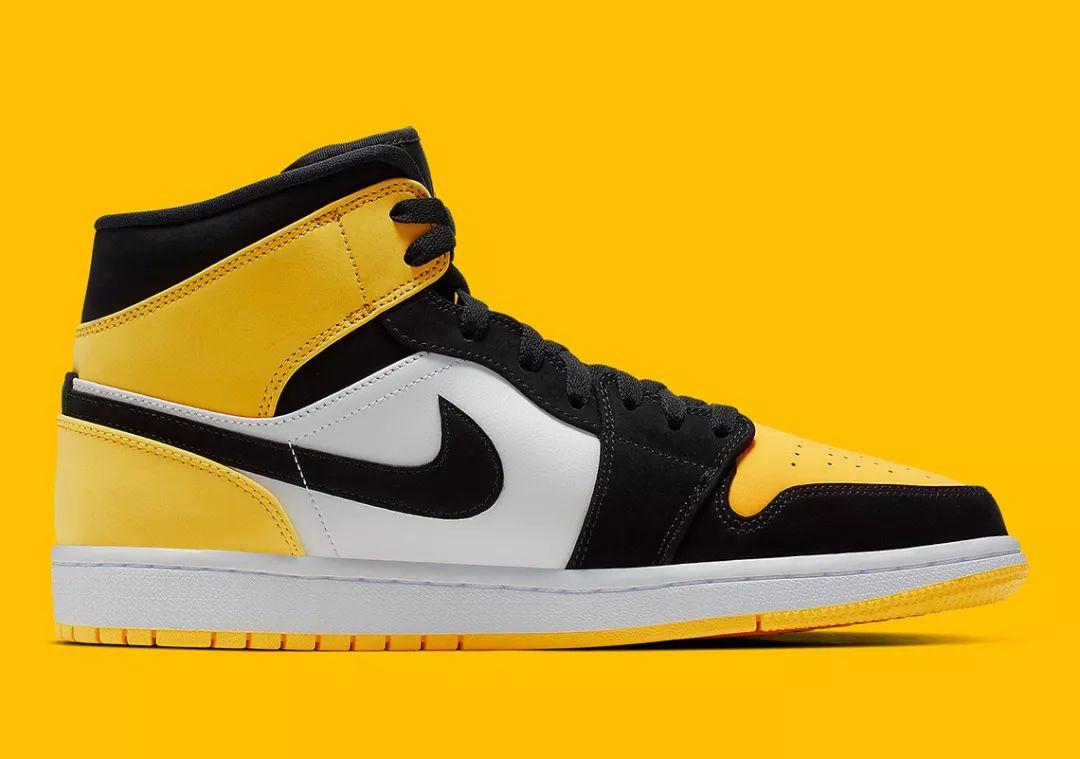 每日鞋讯   Air Jordan 1 Mid Yellow Toe,弥补「新欢」遗憾的机会来了