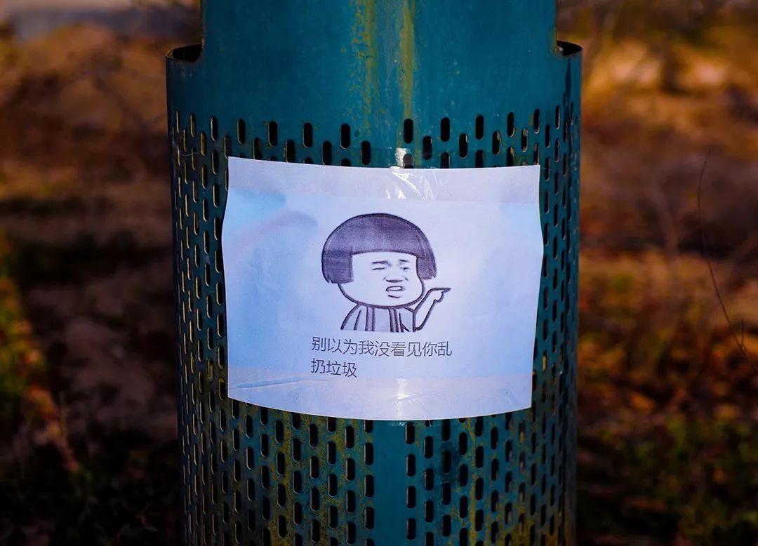垃圾桶也有表情包,创意无限